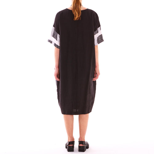 Tiffany Treloar, Big Check Linen Dress - Tiffany Treloar