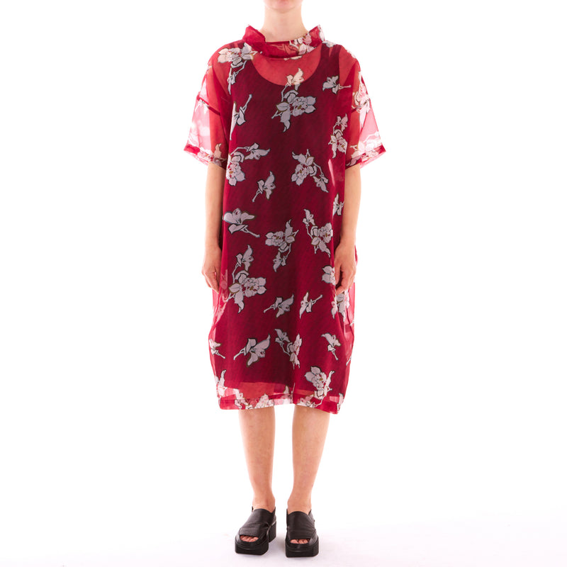 Mieke Red Japonica Dress