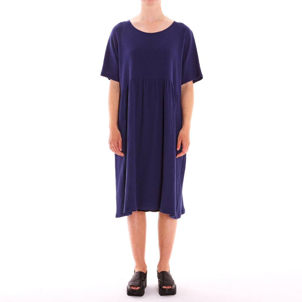 Tiffany Treloar, Half Moon Denim 3/4 Cotton Dress - Tiffany Treloar