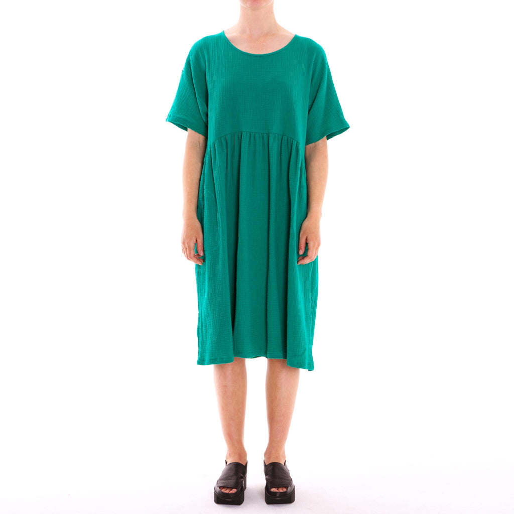 Half Moon Green 3/4 Cotton Dress