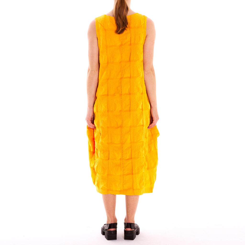 Cotton Seersucker Dress Yellow