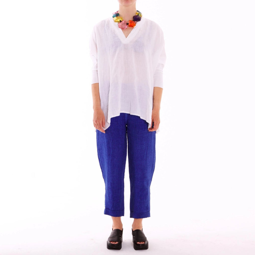 Bara White Linen Top EC 669055