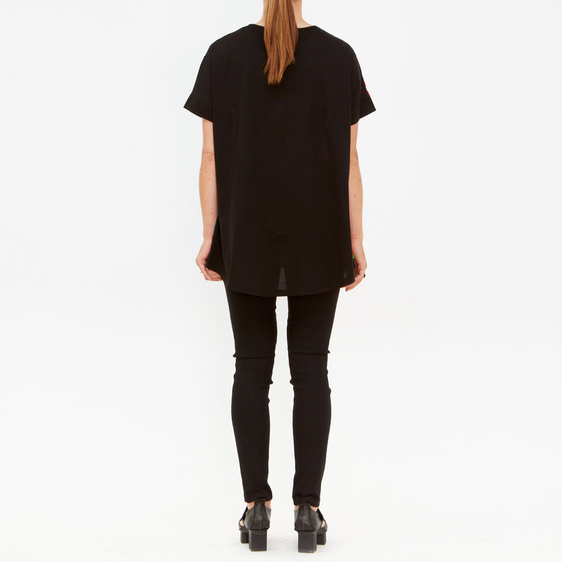 Tiffany Treloar, Jade Japonica Silk & Cotton Tee - Tiffany Treloar