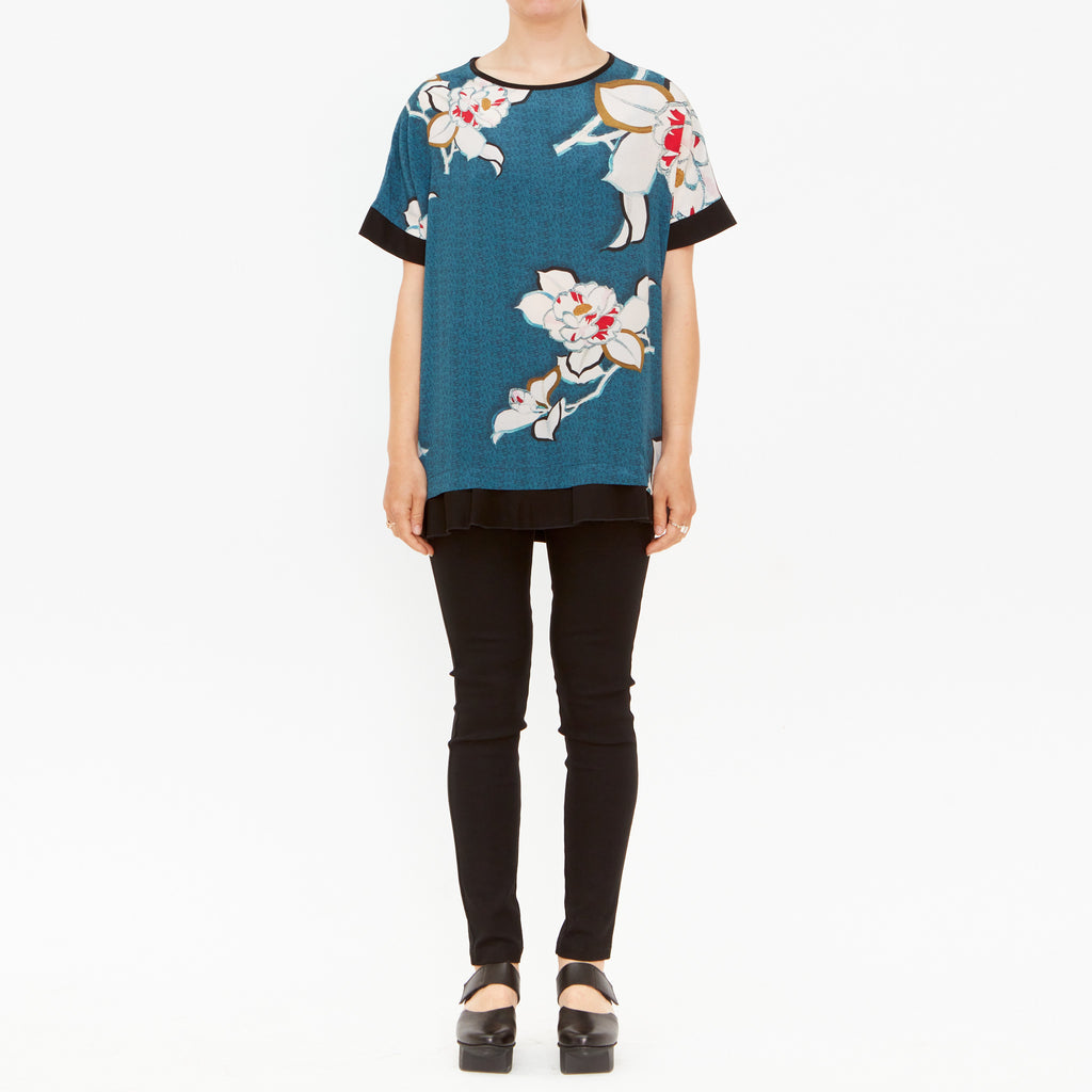 Jade Japonica Silk & Cotton Tee
