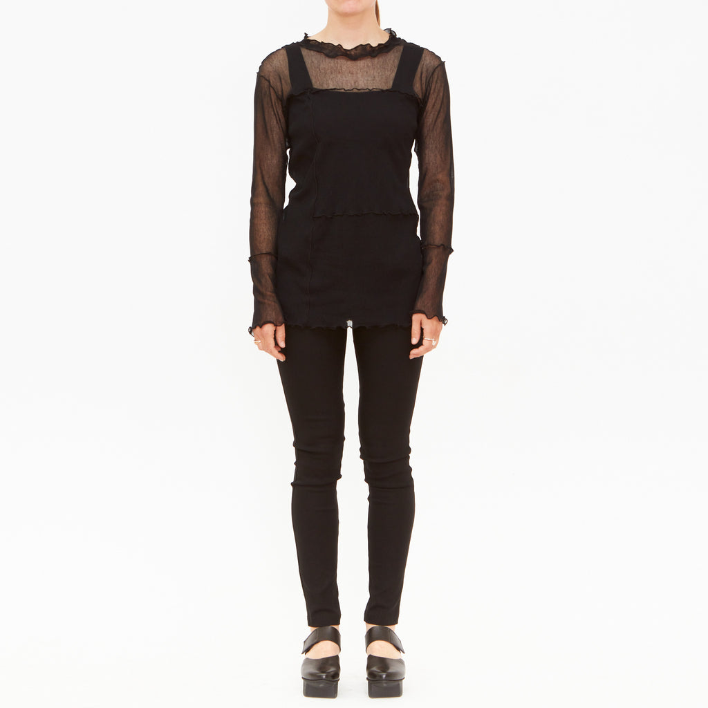 Tiffany Treloar, Black Mesh Panel Top - Tiffany Treloar