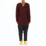 Rundholz, Dark Red Dip Hem Knit 3520702-560 - Tiffany Treloar