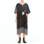 Tiffany Treloar, Upcycled Patch Dress Black - Tiffany Treloar
