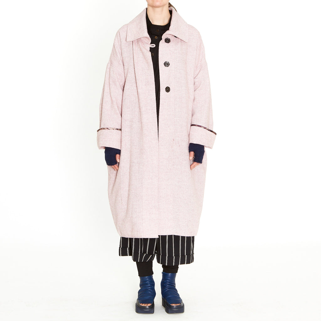 Tiffany Treloar, Herringbone Box Coat Pink - Tiffany Treloar