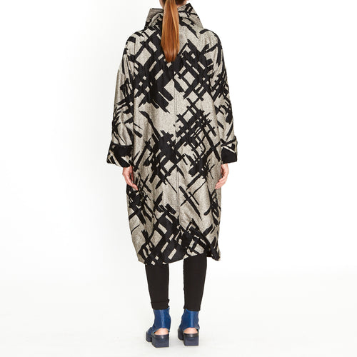 Tiffany Treloar, Black Abstract Coat - Tiffany Treloar
