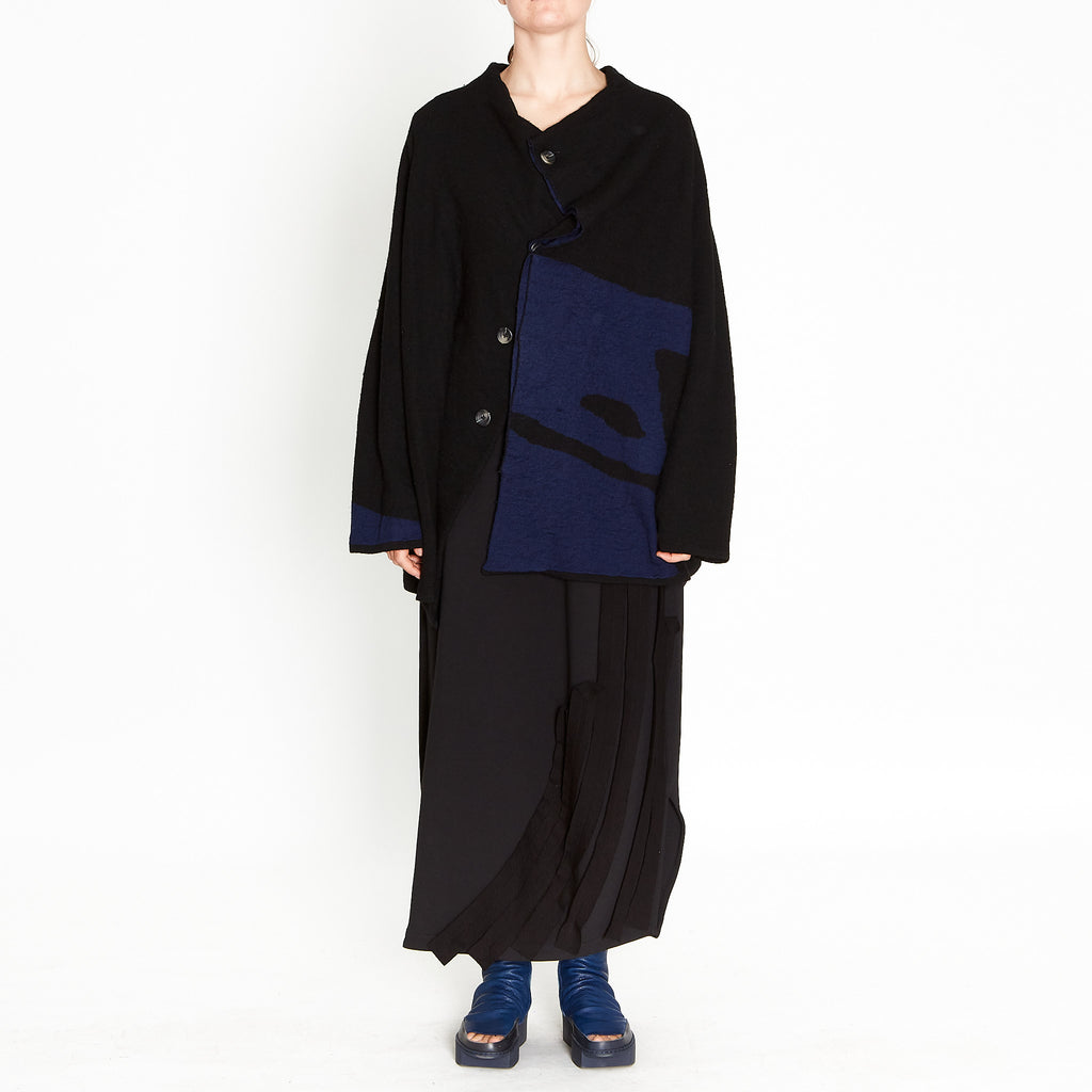 Moyuru, Black/Blue Cardi 193315-06 - Tiffany Treloar