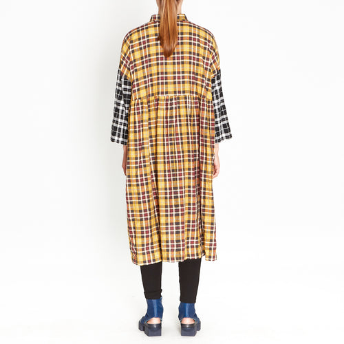 Tiffany Treloar, Macie Yellow Check Dress - Tiffany Treloar