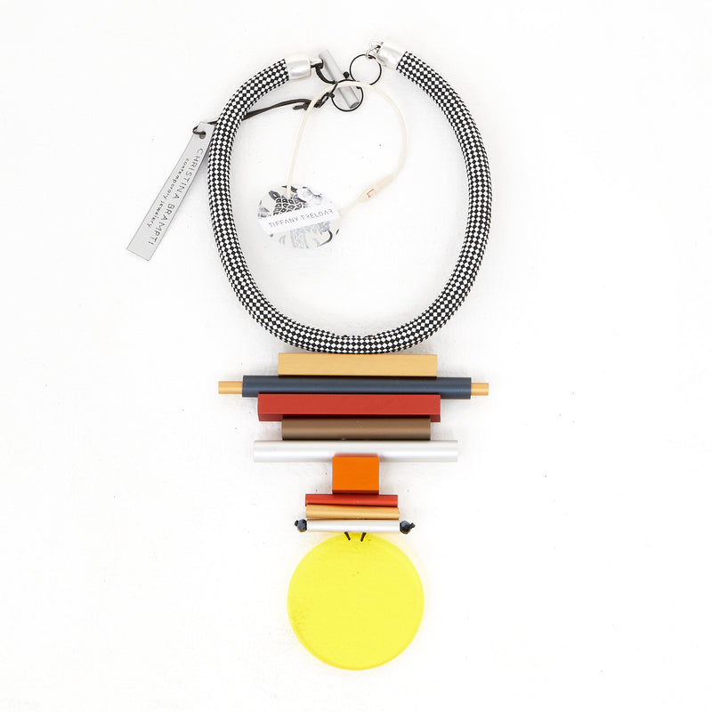 CB87-Mix/Yellow Disc Necklace