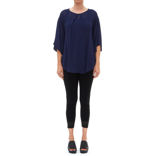 Tessa Origami Navy Top