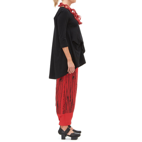 Red Popalina Pant