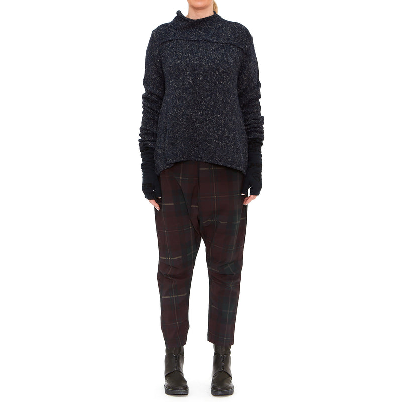 Merlot Check Trousers 3440103-503