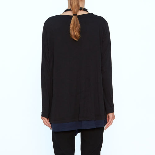 Moyuru, Black/Navy Top 193008-06 - Tiffany Treloar