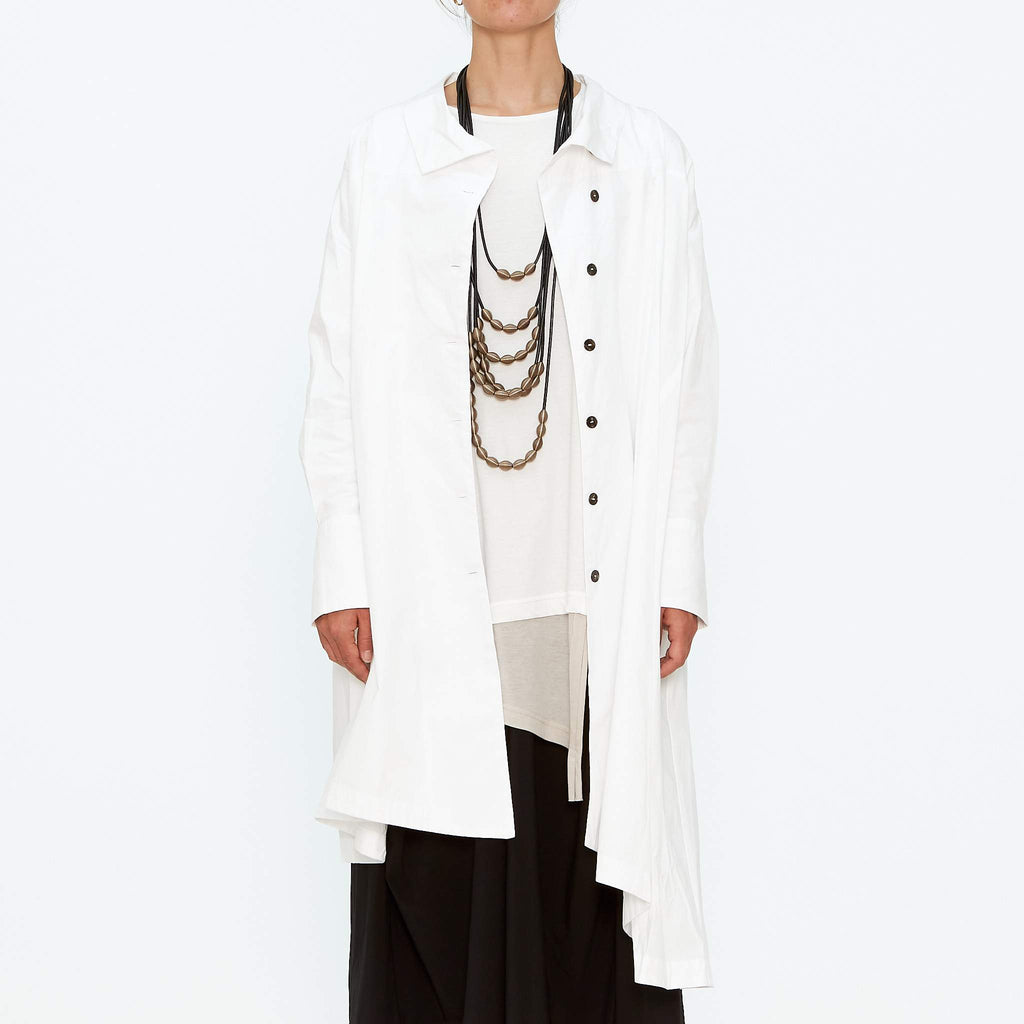 Moyuru, White Shirt Jacket Dress 193400-01 - Tiffany Treloar
