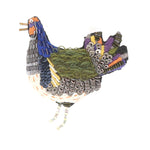 Folk Hen Brooch