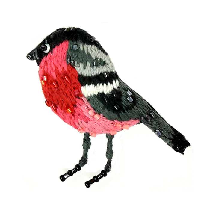 Folk Finch Brooch