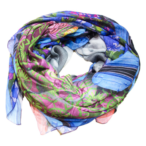 Print Cashmere Scarf Portrait of a Lady