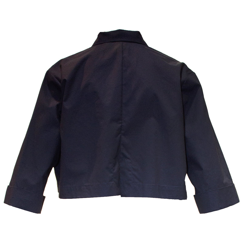 Up & Down Crop Shacket Navy