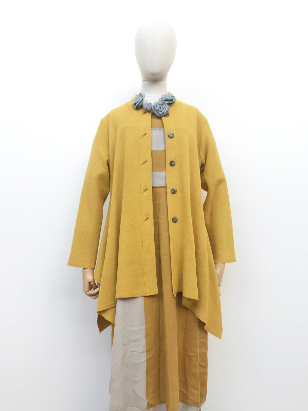 Tiffany Treloar, Atomic yellow cardigan - Tiffany Treloar