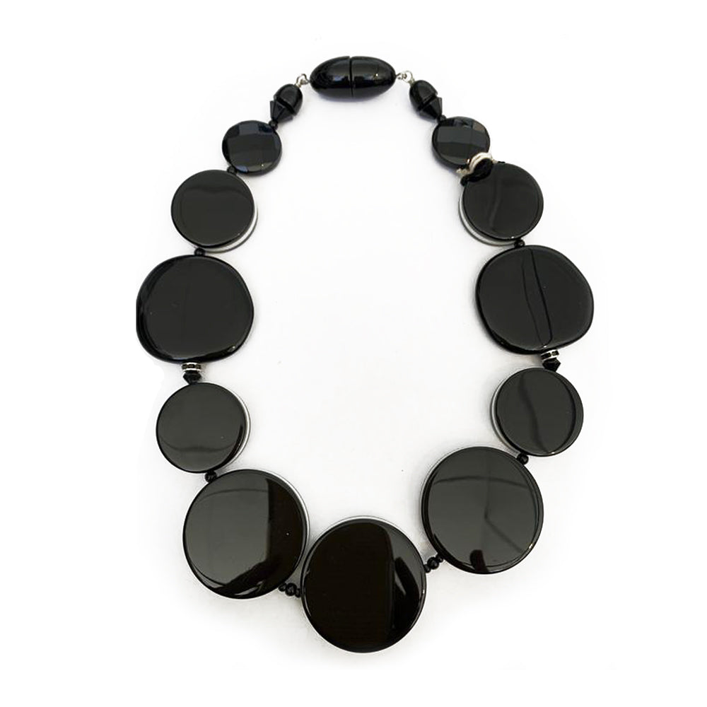 angela caputi Black with White Bon Bon Choker AC-9989