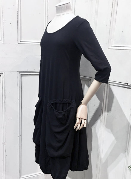 Rundholz Black Cotton Pocket Dress 3870910