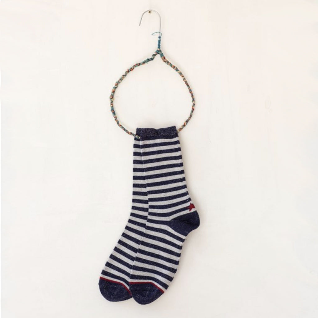 Hop Socks, Sox Blue/Beige Stripe - Tiffany Treloar