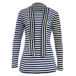 Tiffany Treloar, Black & Blue Striped Wool Top - Tiffany Treloar