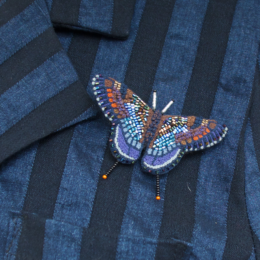 Trovelore Red Spotted Purple Butterfly Brooch