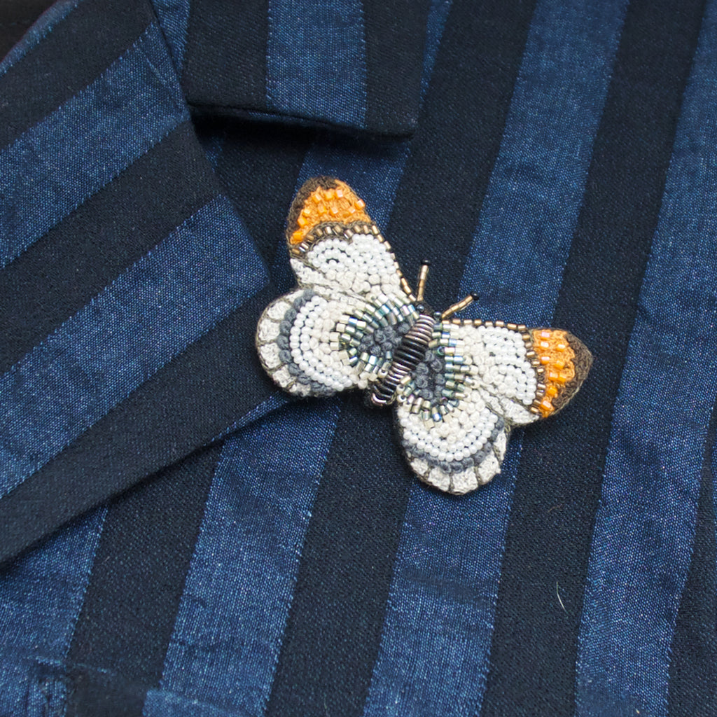 Trovelore Orange Tip Butterfly Brooch