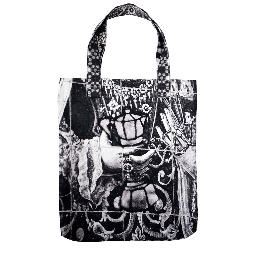 Tiffany Treloar, Printed Canvas Bag Our Lady Black & White - Tiffany Treloar