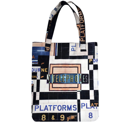 Tiffany Treloar, Printed Canvas Bag Flinders St Station - Tiffany Treloar