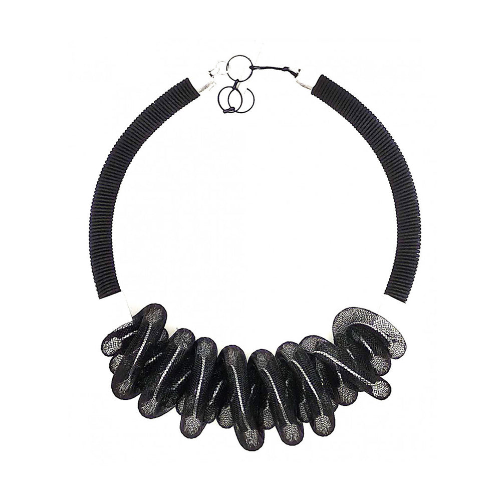 Christina Brampti CB203 Mesh Short Necklace Black/White