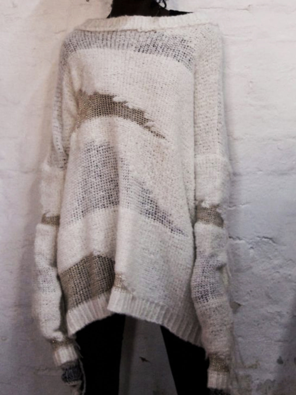 Fabrica Intarsia Knit Sweater Snow