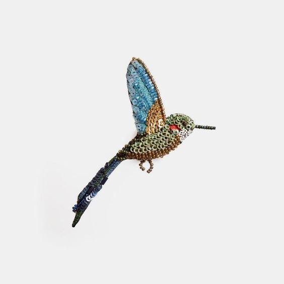 Trovelore, Tropical Hummingbird Brooch - Tiffany Treloar