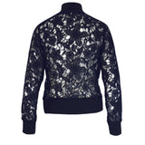 Tiffany Treloar Lace Cotton Bomber Jacket Nocturnal Back