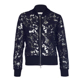 Tiffany Treloar Lace Cotton Bomber Jacket Nocturnal Front