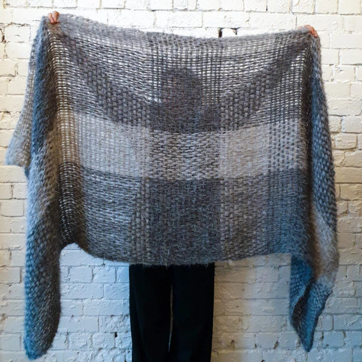 Amano Handwoven Large Wrap - Grey