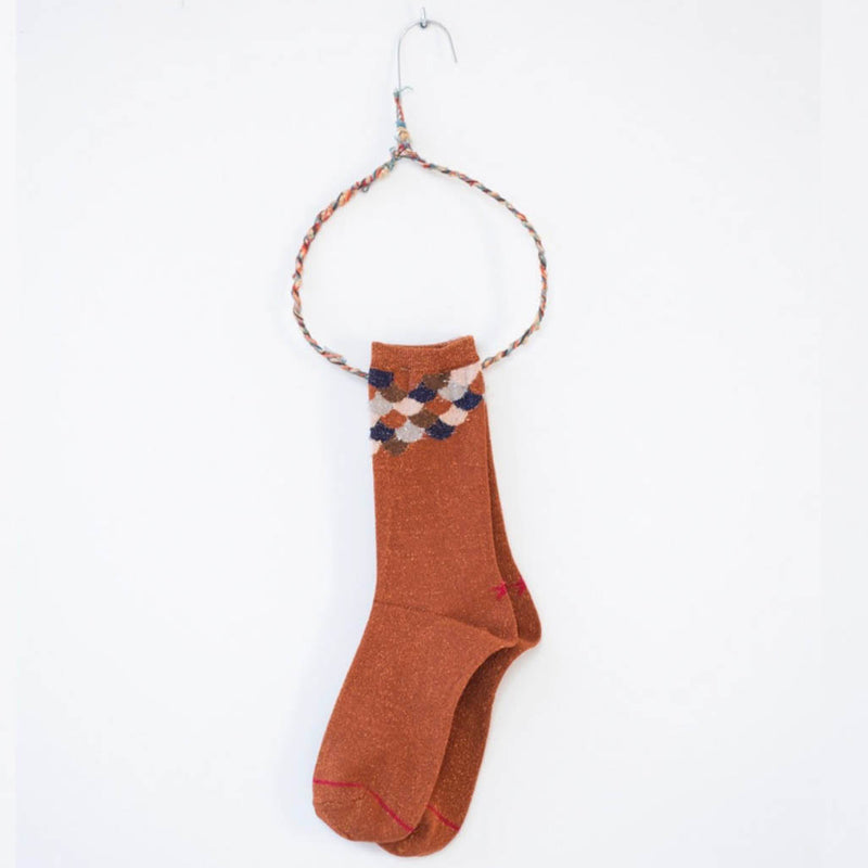 Hop Socks, Sox Rust Fish Scale - Tiffany Treloar