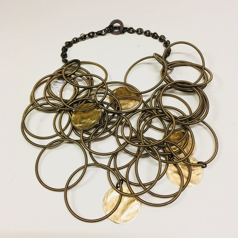 Monica Trevisi, T155 Large Loop Brass Necklace - Tiffany Treloar