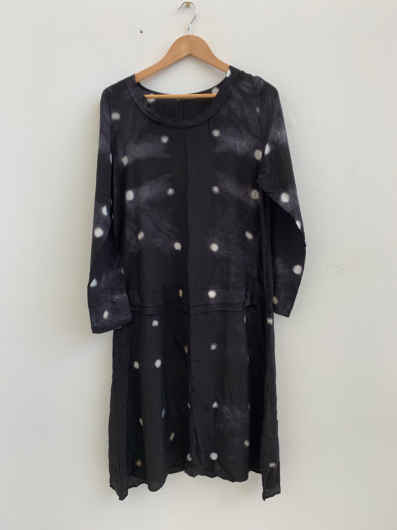 33 Poets Small Dot Empire Dress Black