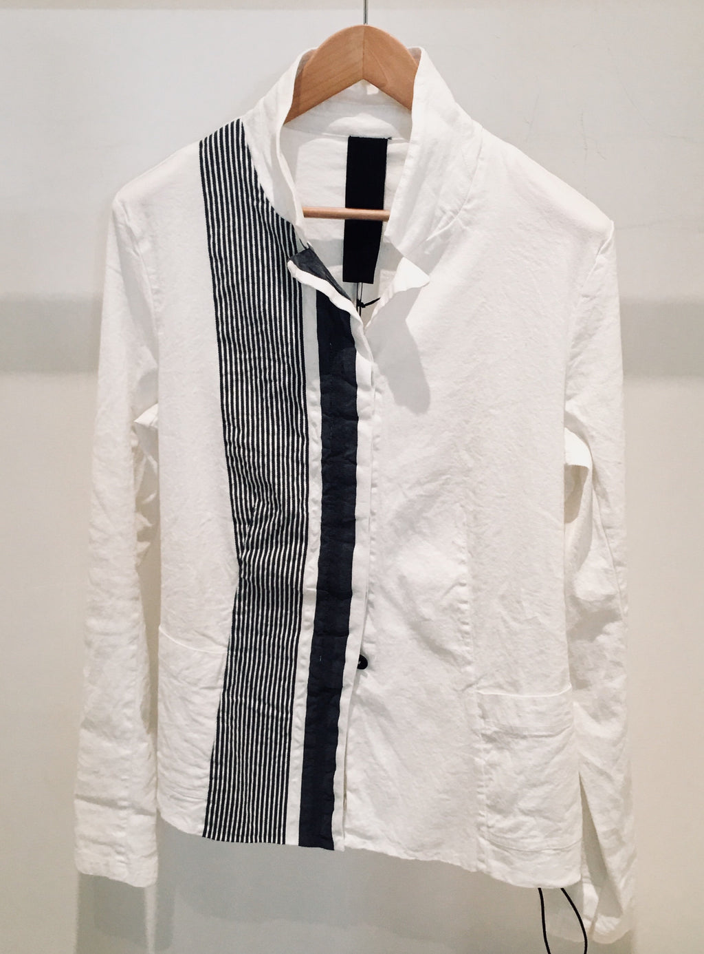 White Shirt Grey Stripe 1183491105