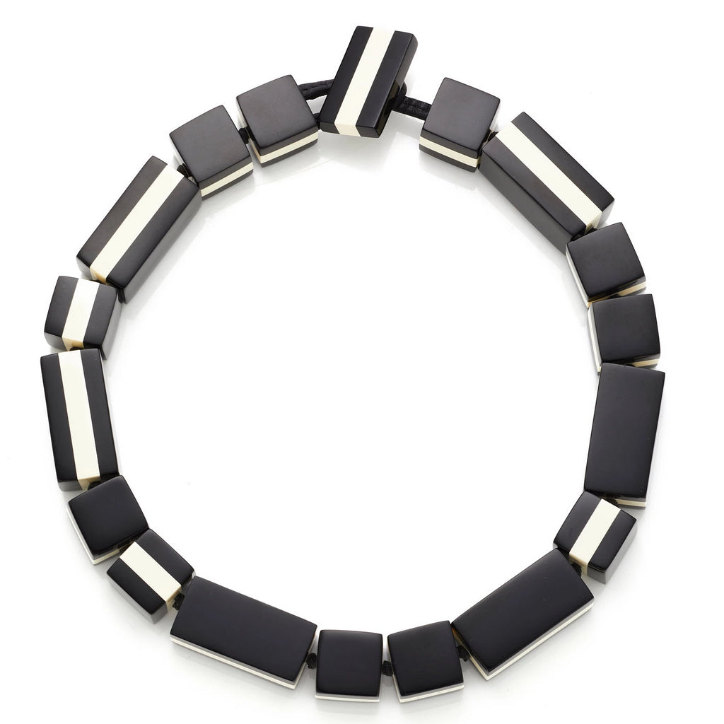 Monies, Anne Necklace Black + White - Tiffany Treloar