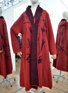 Moyuru Red Wool Coat  Art Number 183313
