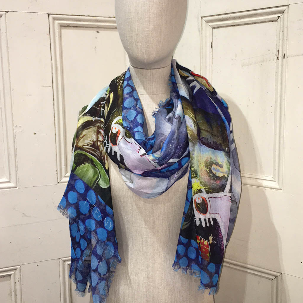 Long Print Modal Scarf Eixample