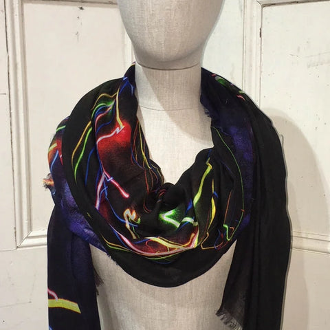 Long Print Modal Scarf Point Addis