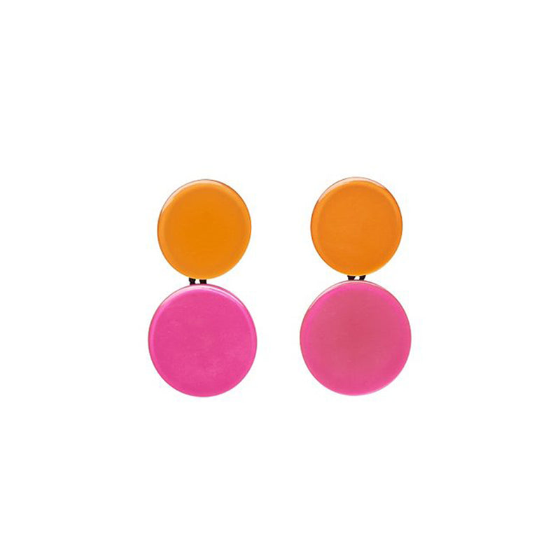 monies Maceio Earclips Pink + Orange