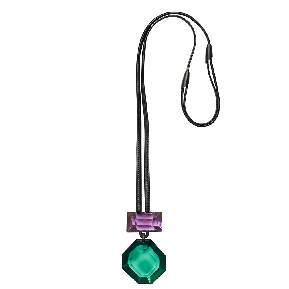 Monies, Madison Pendant Purple + Green - Tiffany Treloar